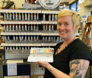 Liz Carlson holding the 2013 set and her color chart