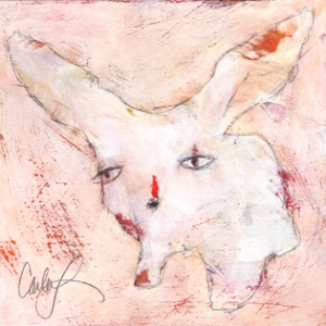 one of Carla's whimsical bunnies