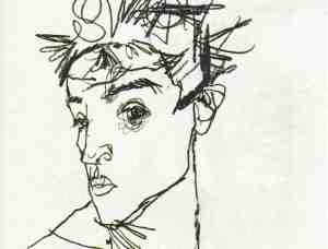 schiele_self-portrait