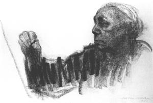 Kollowitz-Kathe-Self-Portrait-charcoal-on-paper1924
