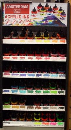 Amsterdam acrylic ink rack