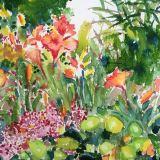 Watercolor Summer Garden