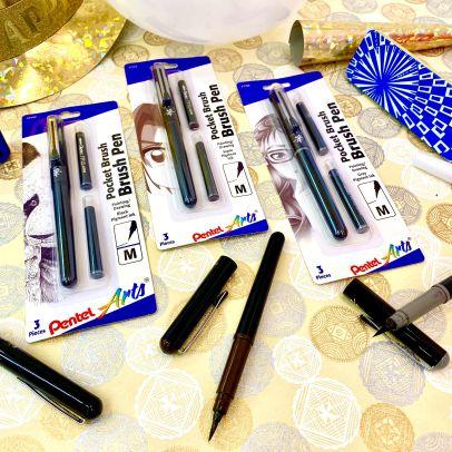 Pentel Pocket Brush Pens in Sepia and Gray
